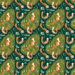 Pattern #74 - Playful otters by the river - SM