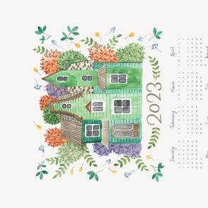 2018 Calendar Tea Towel Home Sweet Home