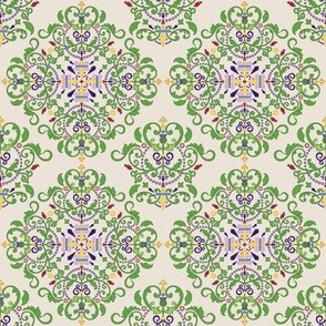 Thistle Damask  - 4in (tan)