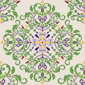 Thistle Damask  - 8in (tan)