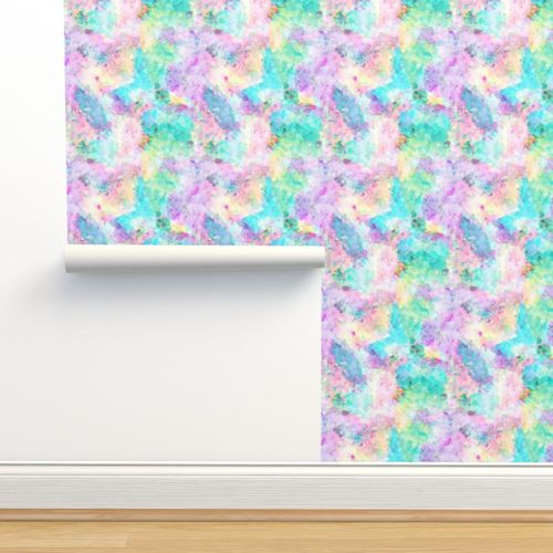6815360 abstract rainbow soft watercolour paint splatter by caja design