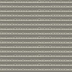 frilly stripe grey/cream