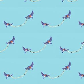 Bluebirds and Garland