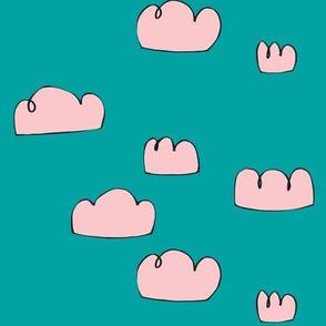 clouds aqua sky