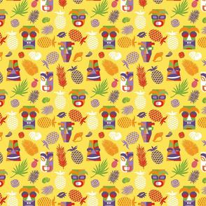 tiki masks yellow – small scale