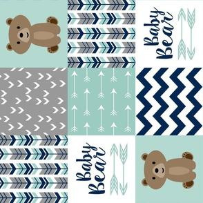 Baby Bear Patchwork Mint