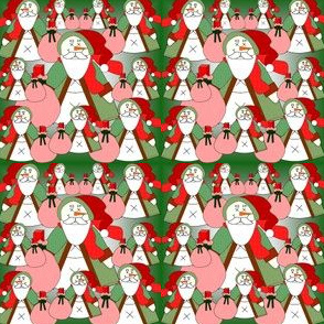 Snow Me Some Toys Santa Claus Fabric Collection