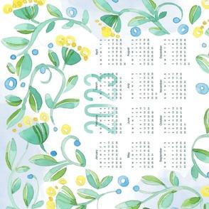 Sweet Watercolor Blooms 2021 Tea Towels_Hearts