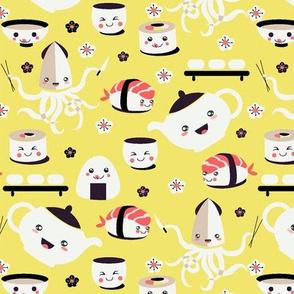 Yellow Kawaii Sushi
