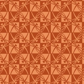 Checkered Reflections (Ginger & Peach)