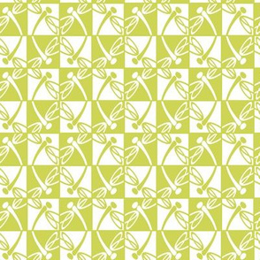 Checkered Reflections (Chartreuse)