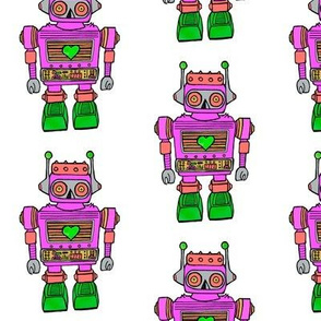Pink-robots in smalls prints