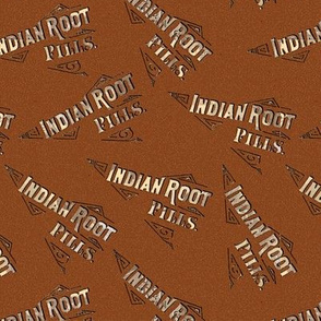 Dr Morse's Root Pills Pattern- brown