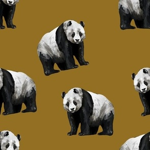 Panda Panda - Smaller Scale on Gold