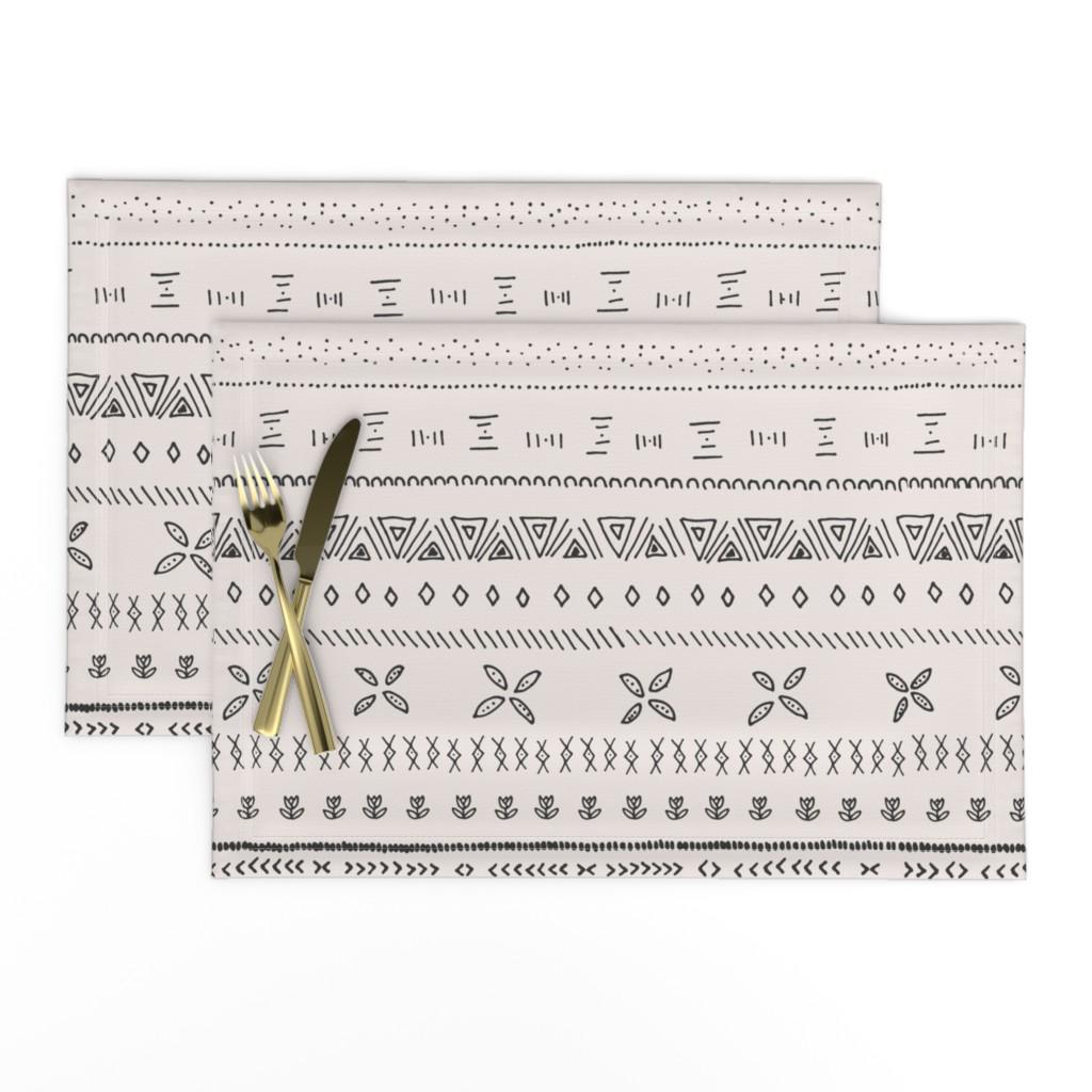 Lamona Cloth Placemats featuring Boho Print by shelbyallison