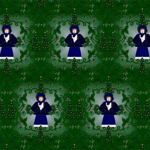 Victorian Katie The Noel Caroler Christmas Fabric Collection