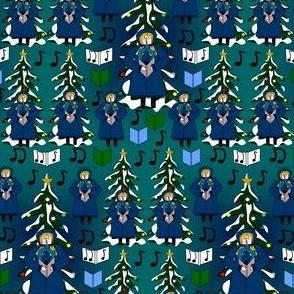 Christmas Caroler Caroling Gertie Fabric Collection