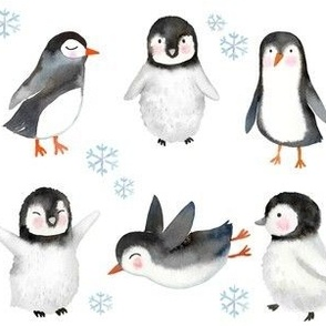 Winter Penguins // White