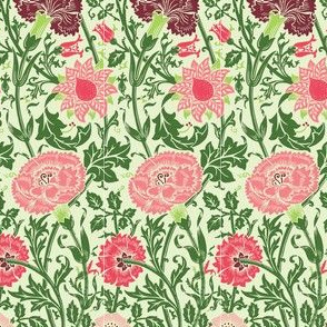 Pinks and Roses (red green)