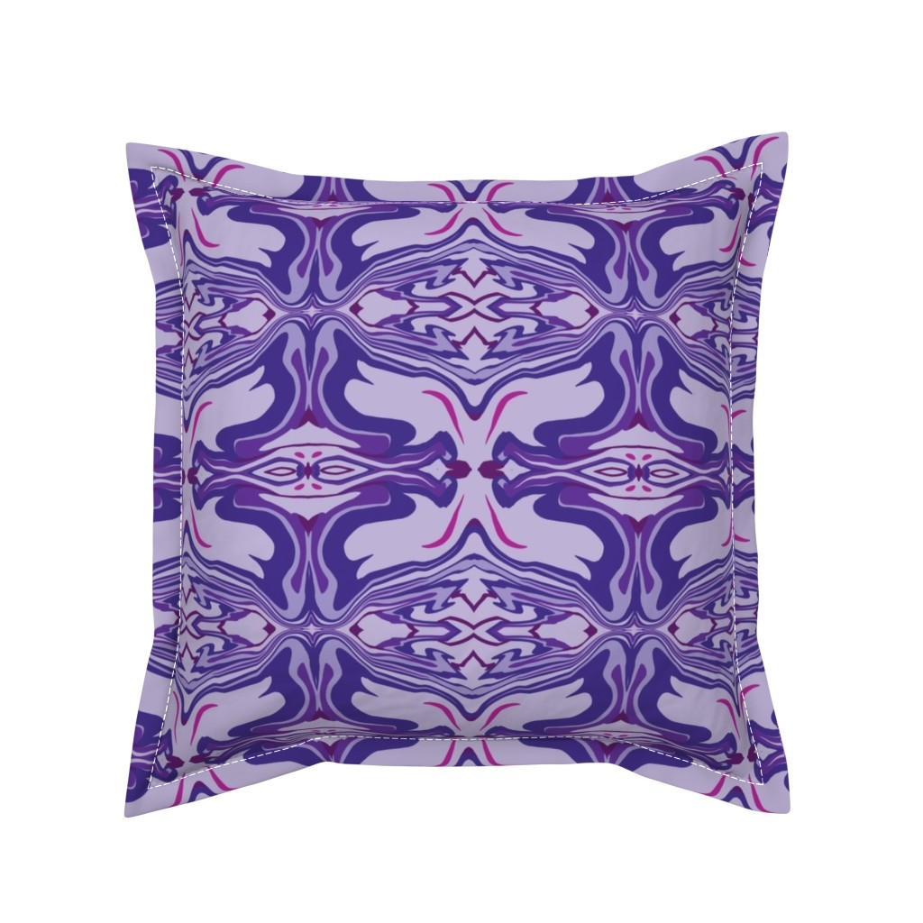 Serama Throw Pillow featuring Latin Tile Purple by creative_spaces