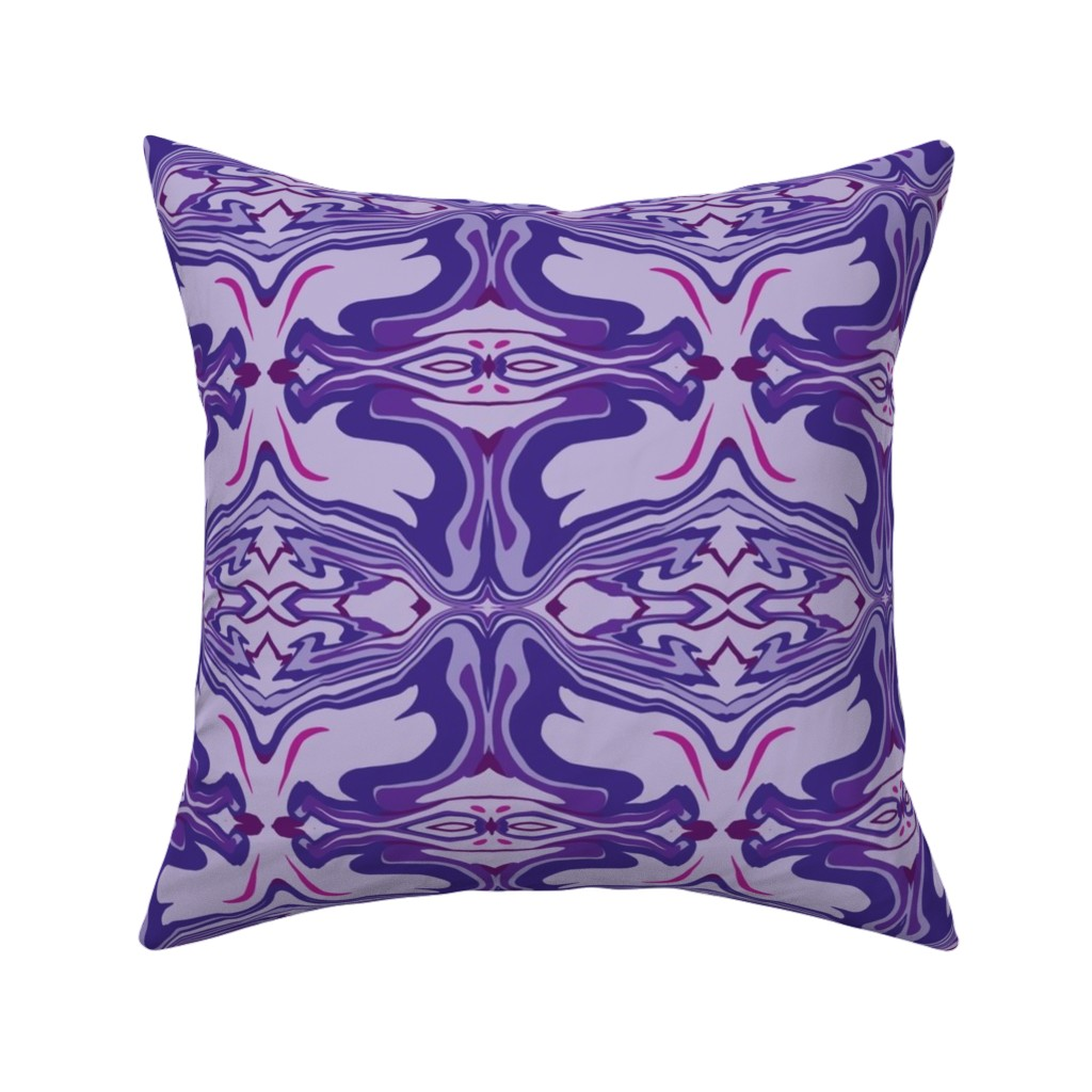 Catalan Throw Pillow featuring Latin Tile Purple by creative_spaces
