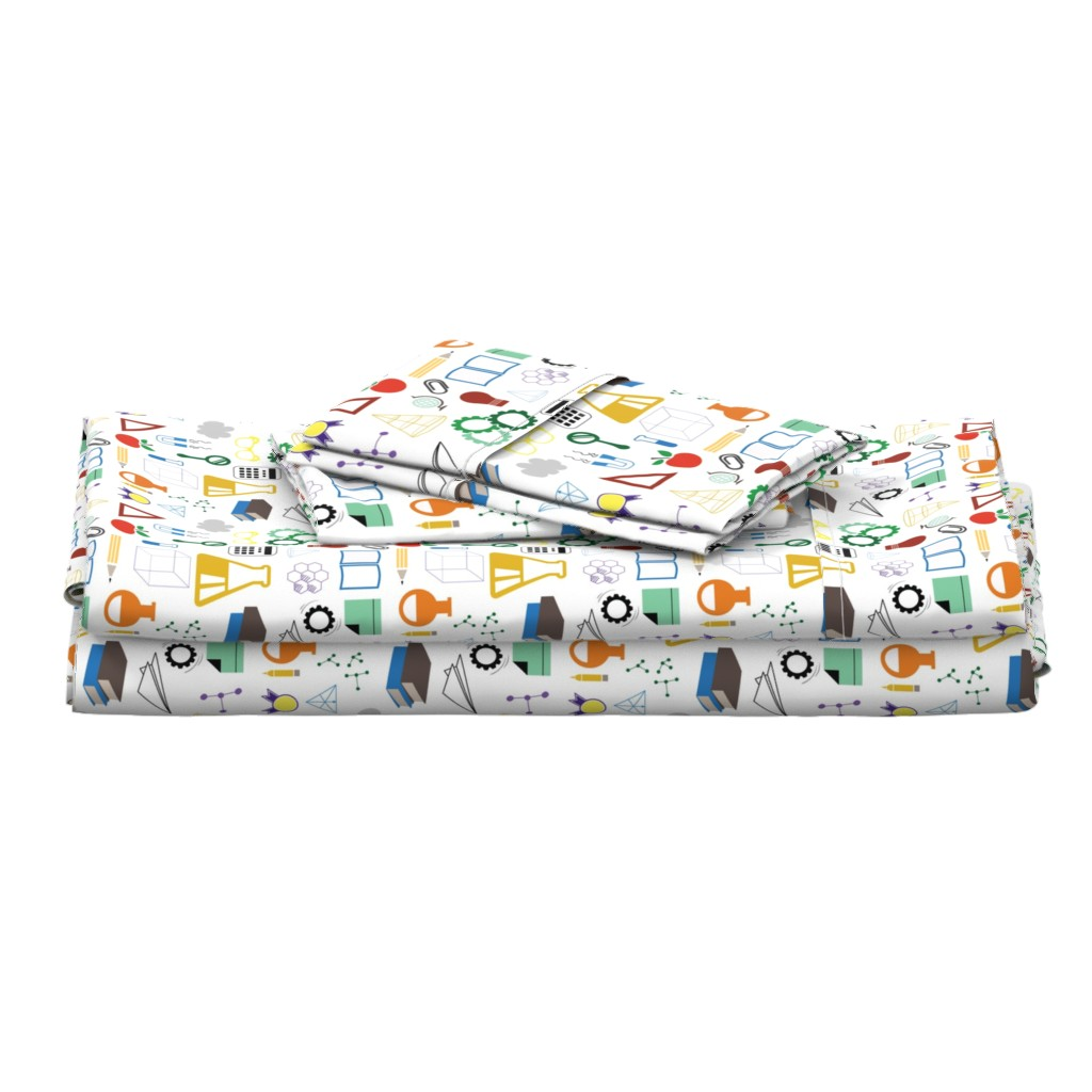 Langshan Full Bed Set featuring STEM - 8in (multicolor) by studiofibonacci