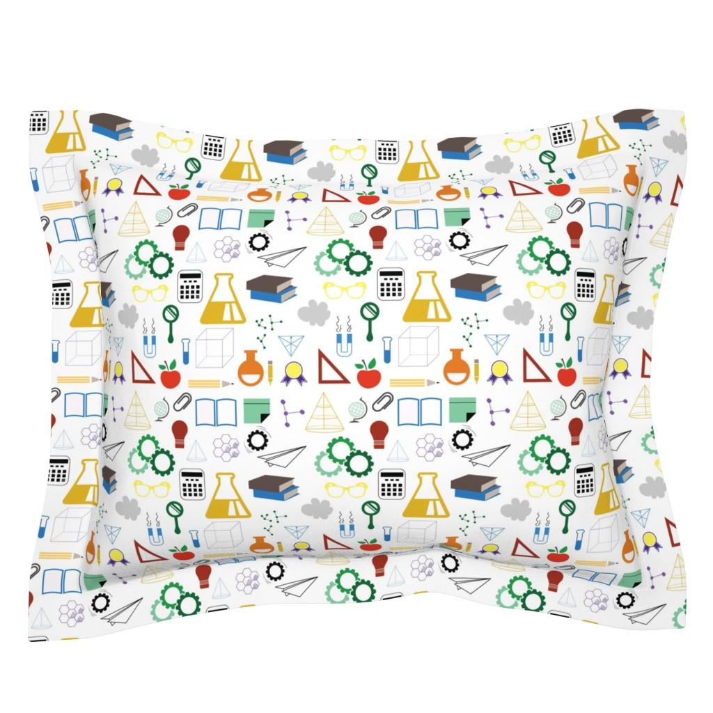 Sebright Pillow Sham featuring STEM - 8in (multicolor) by studiofibonacci