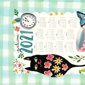 Big Kitty 2020 Tea Towel Calendar