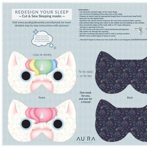 Rainbow and pink unicorn Sleep Mask