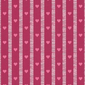 Sketchy Scandi Stripe cranberry ©Julee Wood