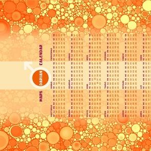 Mars 24 Month Calendar