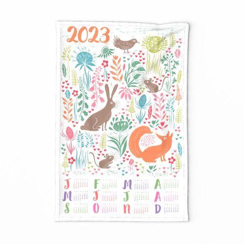 2020 Woodland Block Print Calendar