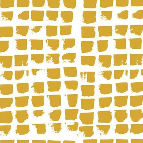 Abstract, painted Brush strokes mustard yellow
