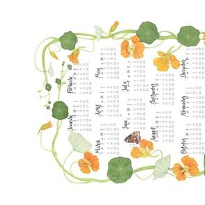 2021 Tea Towel Calendar Nasturtiums