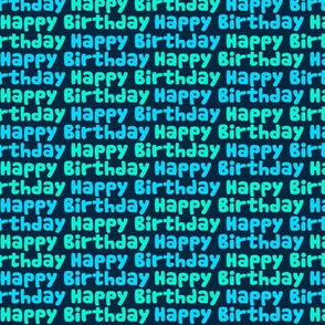 Happy Birthday Type on Dark Blue