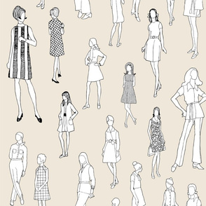 1960's Fashion - Mod Girls of the '60s   Beige