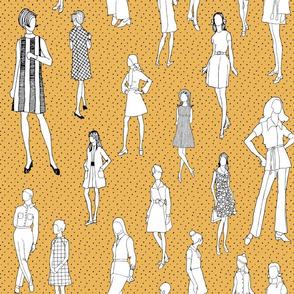 1960's Fashion - Mod Girls of the '60s   Citron Dot