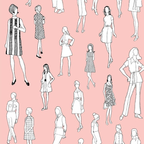 1960's Fashion - Mod Girls of the '60s - Pink
