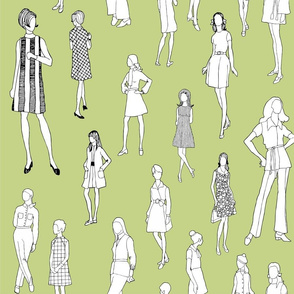 1960's Fashion - Mod Girls of the '60s   Avocado