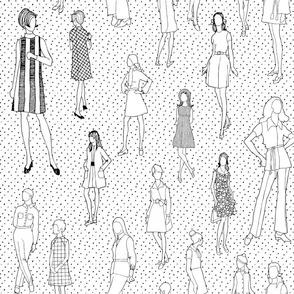 1960's Fashion - Mod Girls of the '60s   White Dot