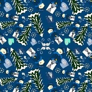 Winter Snow Go Noodles Snowman Fabric Collection