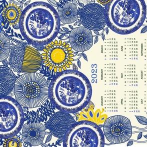 2020 Vintage Blue Willow Calendar