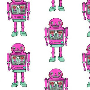 Pink robot smaller prints