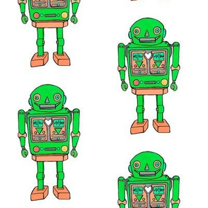 Green robot smaller prints