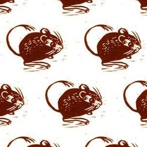 kangaroo mouse block print