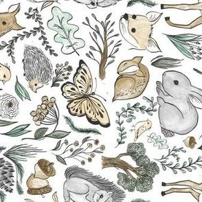 Woodland Lullaby -White - horizontal