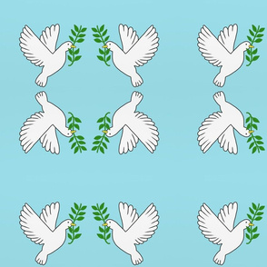 Peace Doves - Light Blue, Small