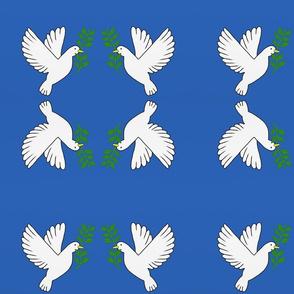 Peace Doves — Royal Blue, small