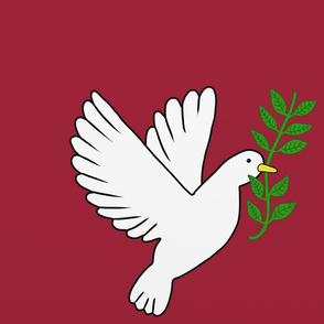Peace Doves Red