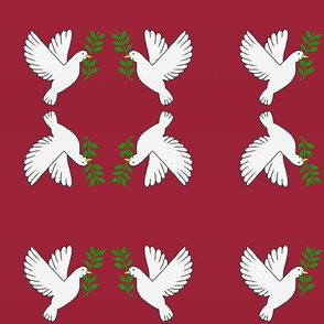 Peace Doves — Red, small